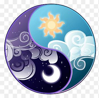 Conceptul de Yin si Yang-zi/noapte