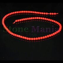 Colier / Sirag margele coral rosu 4mm