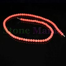 Colier / Sirag margele coral roz 4mm