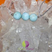 Bratara Therapy larimar sfere 6mm si argint 925