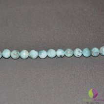 Bratara Attitude larimar sfere 6mm si argint 925