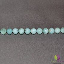 Bratara Attitude larimar sfere 8mm si argint 925