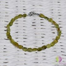 Bratara peridot oval neregulat 5mm