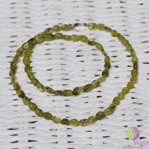Colier peridot oval neregulat 5mm