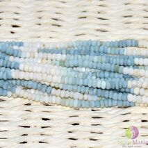 Sirag opal blue discuri fatetate 3-4mm, 34cm