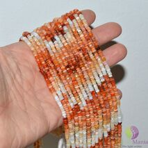 Sirag opal orange discuri fatetate 3-4mm, 34cm