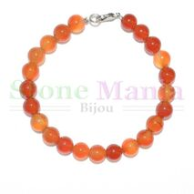 Bratara carneol orange sfere 8mm