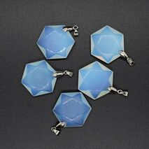 Pandantiv opalit hexagonal 28mm
