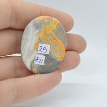 Cabochon jasp bumble bee 36x29x6mm A21