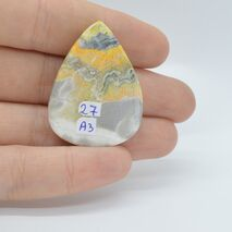 Cabochon jasp bumble bee 36x28x6mm A3