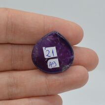 Cabochon ametist 24x23x9mm A9, imagine 2