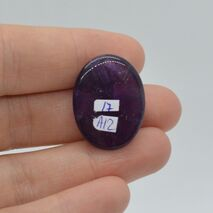 Cabochon ametist 25x19x7mm A12, imagine 2