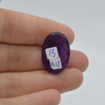 Cabochon ametist 24x16x7mm A18, imagine 2