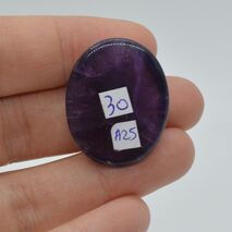 Cabochon ametist 30x23x9mm A25, imagine 2