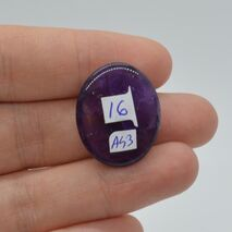 Cabochon ametist 24x20x7mm A43, imagine 2