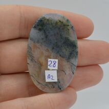 Cabochon agat moss 42x27x5mm A2, imagine 2