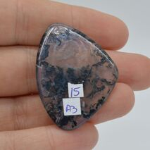 Cabochon agat moss 39x29x3mm A3, imagine 2