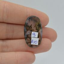 Cabochon agat moss 27x16x4mm A10, imagine 2
