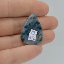 Cabochon agat moss 28x20x6mm A12, imagine 2