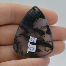 Cabochon agat moss 45x35x7mm A27, imagine 2