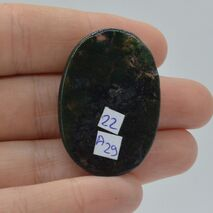 Cabochon agat moss 38x26x5mm A29, imagine 2