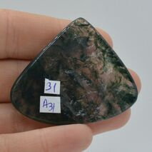 Cabochon agat moss 47x40x5mm A31, imagine 2