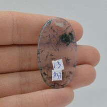 Cabochon agat moss 40x23x3mm A33, imagine 2
