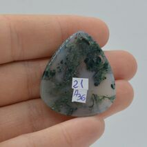 Cabochon agat moss 33x30x6mm A36, imagine 2