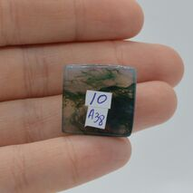 Cabochon agat moss 20x19x5mm A38, imagine 2