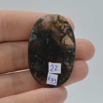 Cabochon agat moss 41x27x4mm A39, imagine 2