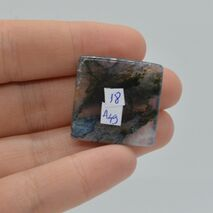 Cabochon agat moss 26x25x5mm A49, imagine 2