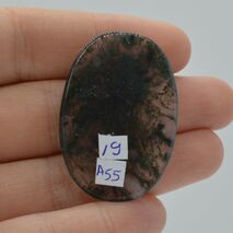 Cabochon agat moss 40x27x4mm A55, imagine 2