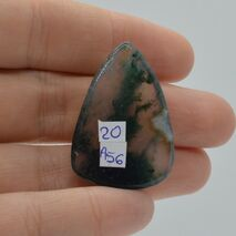 Cabochon agat moss 34x23x6mm A56, imagine 2