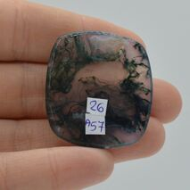 Cabochon agat moss 34x31x5mm A57, imagine 2