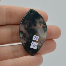 Cabochon agat moss 43x25x5mm A60, imagine 2