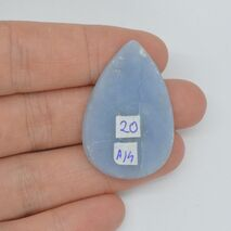 Cabochon angelit 36x25x5mm A14, imagine 2
