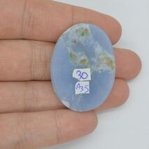 Cabochon angelit 36x27x6mm A35, imagine 2
