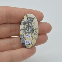 Cabochon jasp maligano 38x21x7mm A55, imagine 2