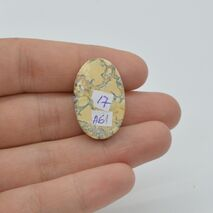 Cabochon jasp maligano 26x17x7mm A61, imagine 2