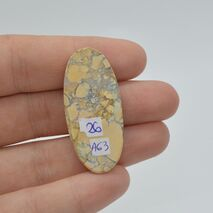 Cabochon jasp maligano 40x18x6mm A63, imagine 2