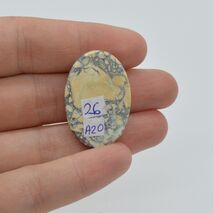 Cabochon jasp maligano 31x21x6mm A20, imagine 2