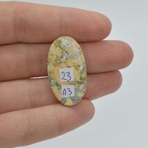 Cabochon jasp maligano 31x17x7mm A3, imagine 2