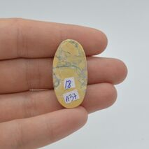 Cabochon jasp maligano 32x16x6mm A37, imagine 2
