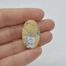 Cabochon jasp maligano 30x19x6mm A49, imagine 2