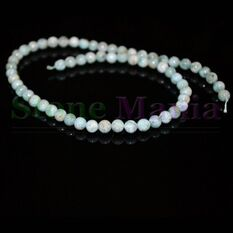 Colier larimar natural sfere 7mm